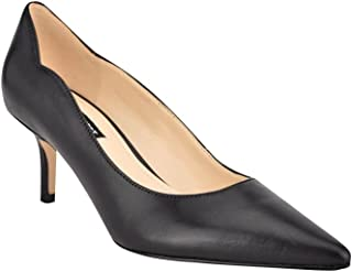 Nine West Women's Abaline Pump, Black Leather, 6.5