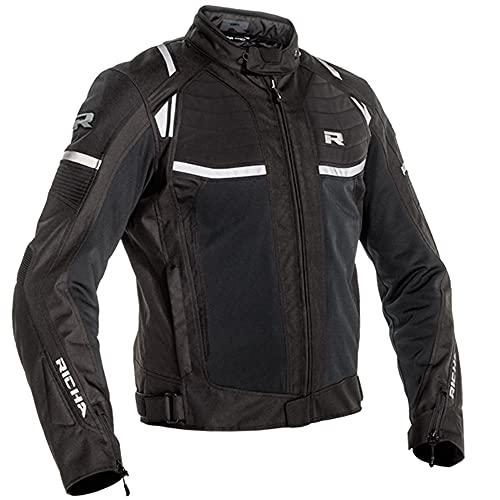 Richa Motorradjacke mit Protektoren Motorrad Jacke Airstream-X Textiljacke schwarz XL, Herren, Tourer, Ganzjährig