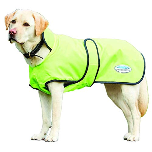 Weatherbeeta Windbreaker 420D Deluxe Lite Dog Coat Yellow/Black 18'