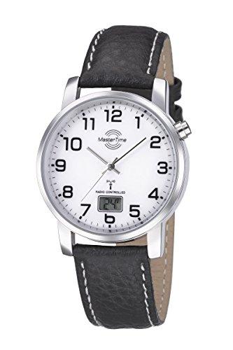 Master Time Funk Quarz Herren Uhr Analog-Digital mit Leder Armband MTGA-10294-12L