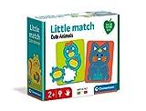 Clementoni- Little Match – Pequeños Animales – 6 Mini puzles, Piezas Rompecabezas encajables, Juego Educativo para niños de 2 años, Fabricado en Italia, Multicolor (16324)