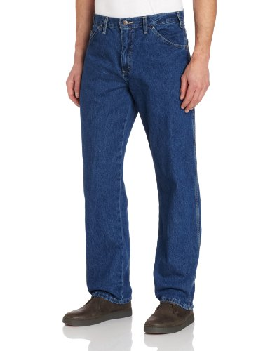 Dickies Men's Relaxed Straight Fit Carpenter Jean, Indigo Blue, 33x32