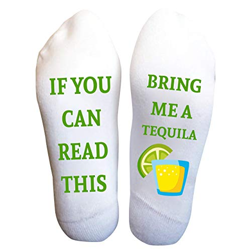 Tequila Socks Funny Gift For Her If You Can Read This