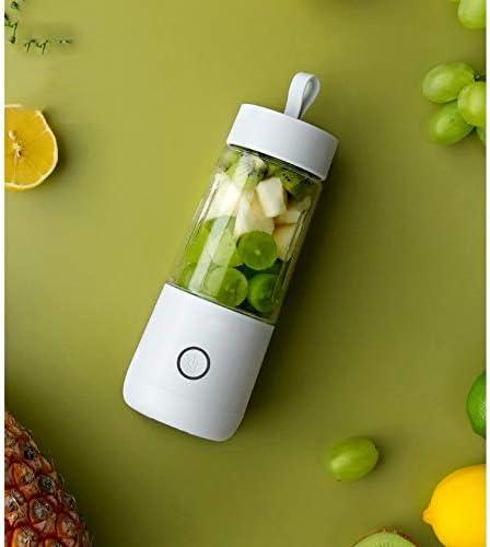 SPNEC PLKJZ Portátil USB exprimidor eléctrico Recargable Smoothie Blender Máquina Mini Mixer Juguera rápido procesador de Alimentos móvil Mezclador (Color : A) A