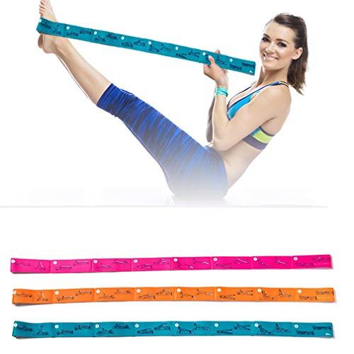 Topanke Cinghia di Yoga Flessibili Stretching Strap con 8 Loops per Multifunzione Cintura di Ginnastica Adatto per Pilates,Yoga, Danza, Balletto & Allenamento con Guida All esercizio (Verde)