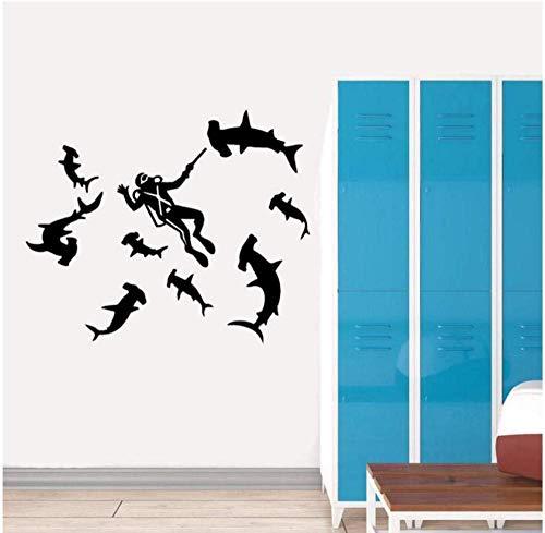 Adesivi Triglie interessanti da 56 cm * 46 cm che nuotano insieme Camera da Letto Soggiorno Adesivi da Parete Decorazione Murale PVC