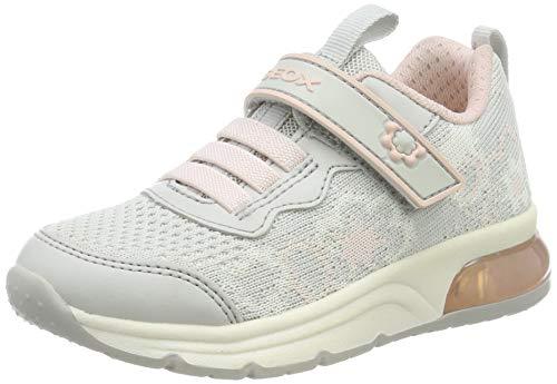 Geox J Spaceclub A, Zapatillas para Niñas, Gris (Lt Grey/Pink C1296), 37 EU