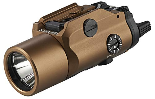 Streamlight 69191 TLR-VIR II Visible LED/IR Illuminator/IR Laser with Rail Locating Keys and CR123A Lithium Battery - Coyote - 300 Lumens