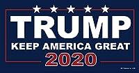 SJT ENTERPRISES, INC. Trump - Keep America Great - 2020 - ブルー bkgd ドナルド・トランプ 4インチ x 8インチ カーマグネット - 防水性と耐紫外線性。 81580