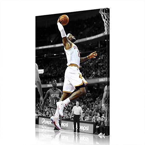 Cave Lebron James Cleveland Cavaliers Canvas Prints NBA Poster Immagine Opera Uomo (prints8,100x160cm)