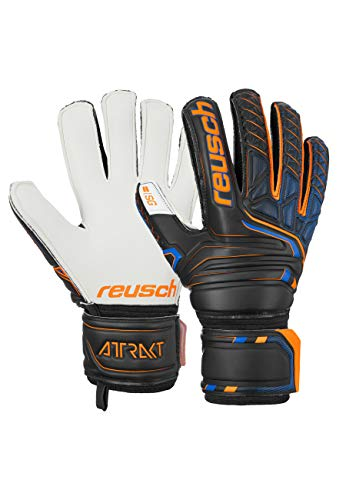 Reusch Herren Attrakt Sg Finger Support Torwarthandschuhe, Black/Shocking orange, 10
