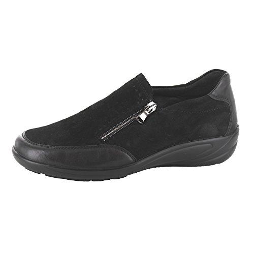 Semler Damen Slipper Soft-N/SAMT-CHEV/K-Lack B6255575/001 schwarz 398183