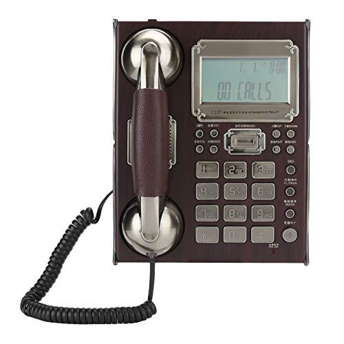 Gaeirt Teléfono Fijo, teléfono Antiguo con Cable, con identificador de Llamadas/Altavoz de Llamada en Espera, teléfono Retro Europeo, cancelación de Ruido para Office Home Hotel