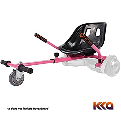 KKA Hoverboard Accessories, Hoverboard Seat Attachment Fits Self Balancing Scooter Go Cart Frame (Pink)