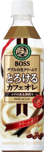 ボス とろけるカフェオレ 500ml×24本 PET