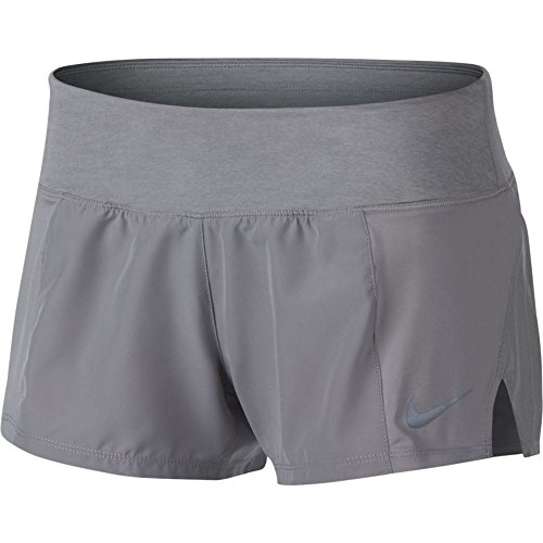 NIKE Women's Dry Running Shorts (Atmosphere Grey, L)