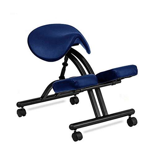 FTFTO Living Decoration Friseurstühle Kniestuhl mit Rädern Kniestuhl Ergonomischer Haltungskorrekturstuhl für Bad Back Office und Home Work Chair