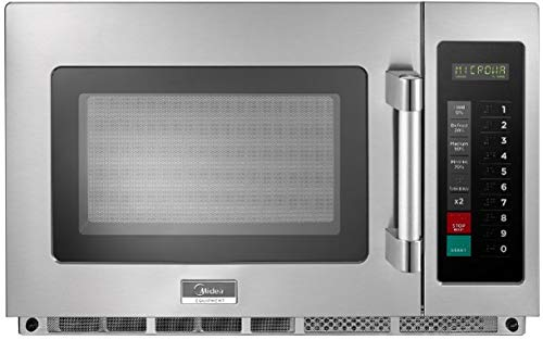 Midea Equipment 1234G1A Commercial Microwave, 1200 Watts, Stainless Steel