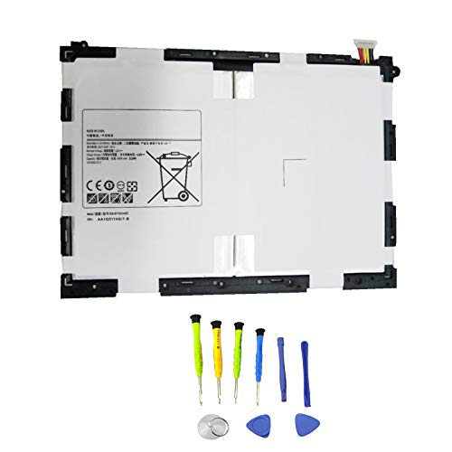 SUNNEAR EB-BT550ABE Replacement Tablet Battery for Samsung Galaxy Tab A 9.7' SM-T550 SM-P550 SM-T555C SM-T555 SM-P351 Series Tablet EB-BT550ABA 3.8V 22.8Wh 6000mAh with Tools