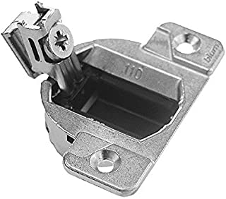 Blum 33.3600x4S 33.3600 Compact 33 Screw on 110 Degree Opening Face Frame Hinge, Zinc Die-Cast (Pack of 4 with Screws), Nickel Finish
