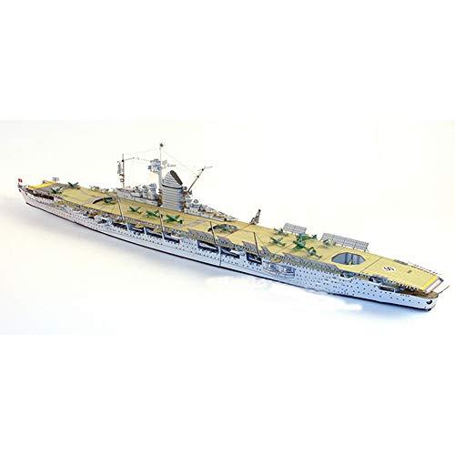 ELVVT 1: 400 Simulation deutscher Flugzeugträger Graf Zeppelin Modell Warship 3D Handmade Origami Modell Hohe Schwierigkeit handgemachte DIY Puzzlespiel-Spielzeug-Dekoration Geschenke for Militär Fans