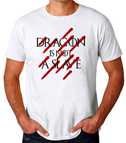 Game of Thrones Dragon Not Slave Camiseta para Hombres