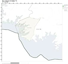 ZIP Code Wall Map of Box Canyon-Amistad, TX ZIP Code Map Laminated