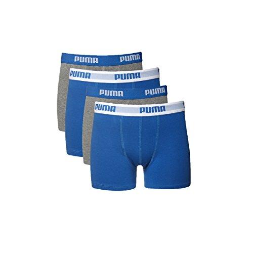 4er PACK PUMA Kindeboxer. Aktuelle Farben aus der Kollektion 2014, in 95%iger Baumwollqualität (158-164, Blue/Grey)