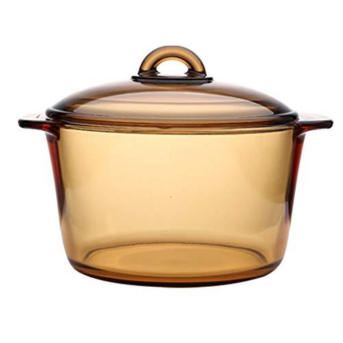 COFFEE CAT Marmite en Verre Transparent Marmite antiadhésive,marmite à Soupe - Cuire la marmite au Four,pour Toutes Les cuisinières,y Compris l'induction
