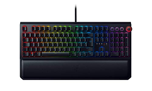 Razer BlackWidow Elite - Premium Mechanical Full-Size Gaming Keyboard (Tastatur mit Razer Yellow Switches (Linear & Leise), Handballenauflage, RGB Chroma Beleuchtung) DE-Layout