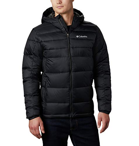 Columbia Men's Standard Buck Butte Insulated Hooded Jacket, Black, Medium