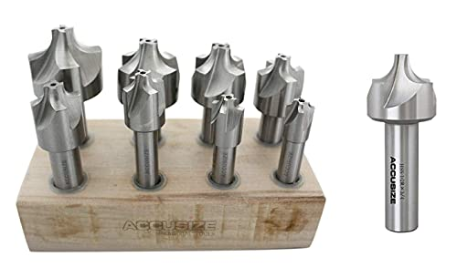 with 1/2'' H.S.S. Corner Rounding End Mill
