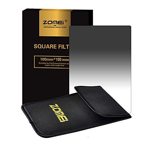 ZOMEi 100 x 150 mm Z-Pro Series ND8 - Filtro degradado de densidad neutra para cámaras réflex digitales Cokin (compatible con filtros cuadrados), color gris