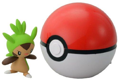 Takaratomy pokemon Monster Collection Figure B-01 Mon-Colle Monster Ball &Chespin
