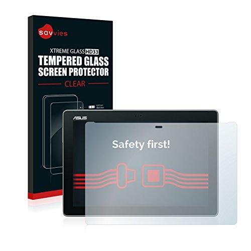 Savvies Panzerglas kompatibel mit Asus ZenPad 10 Z300M - Echt-Glas, 9H Festigkeit, Anti-Fingerprint