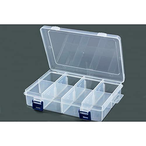 Inwaria BB-10/5-5st - Caja clasificadora transparente, 8 compartimentos, 5 unidades