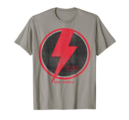 AC/DC Sydney Lightning Bolt T-Shirt, 5 Colors, Adult, Youth Sizes up to 3XL