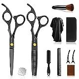 Modsim Haarschere Set, Friseurscheren mit 2 Scharfe Effilierscheren, Haarschneideschere, Perfekter Haarschnitt für Damen und Herren…