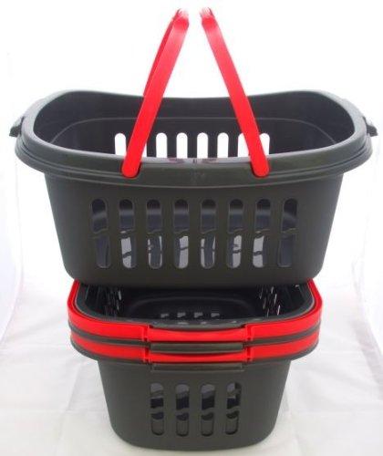 Einkaufskorb Wäschekorb mit Tragegriff 3 Stück Set