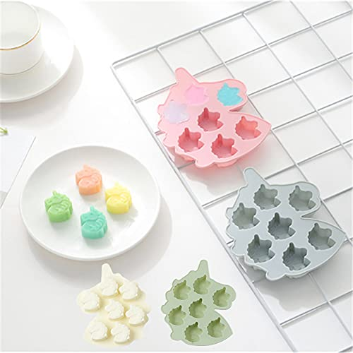 Pony Silicone Chocolate Moulds 4 Pcs, 7 Cavity Fondant Mold Pan, Non-Stick Mini Sweet Moulds, Food Grade Handmade DIY Baking Tray Tools