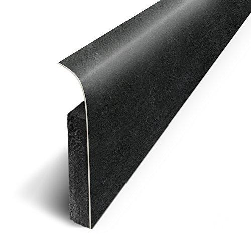3M - Plinthes Adhésives (lot de 5) - Béton Noir - Long.120 cm x Haut.7 cm x Ep. 1.1cm (Ref: D180525D)