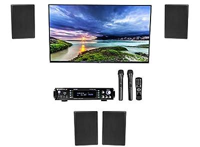 "Rockville RPA70WBT Bluetooth Home Karaoke Machine System+(4) 5.25"" Wall Speakers"