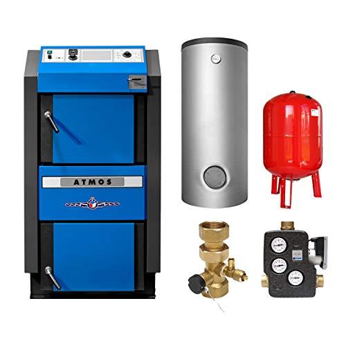 ATMOS KS3391 DC50 GSE Holzvergaserkessel - Komplett-Set mit 2 Pufferspeicher 1000L und Hygienespeicher SHS 900 + 1 SWT, inkl. Isolierung