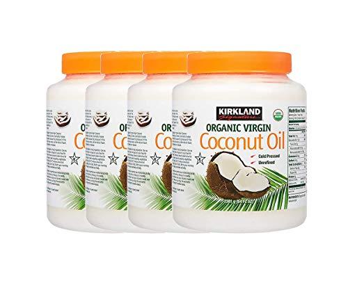 Kirkland Signature Organic Virgin Coconut Oil, 84 fl oz (Pack of 4)