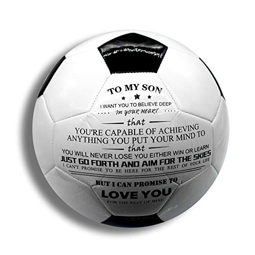 Uloveido Training Recreation Practice Indoor Outdoor Sports Soccer Balls for Boys Teens Kids Football Gift To My Son Y594