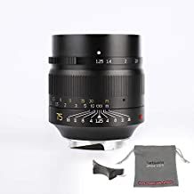 7artisans 75mm F1.25 Fixed Mirrorless Camera Lens for Leica M-Mount Cameras Like Leica M-M Leica M240 Leica M3 Leica M6 Leica M7 Leica M8 Leica M9 Leica M9p Leica M10
