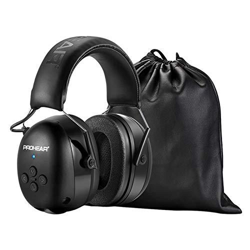 PROHEAR 037 Bluetooth Gehörshutz Kopfhörer mit Eingebautem Mikrofon und Lärmreduzierung für Arbeiten & Vergnügen, SNR 30dB -Schwarz