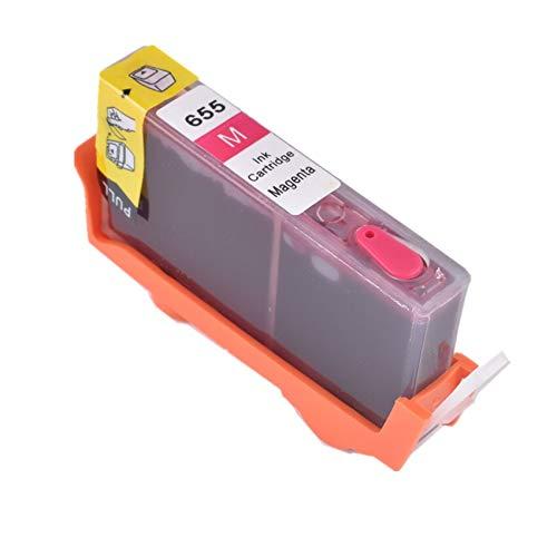 WIYP Bloom compatibles con HP 655 Cartucho de Tinta Recargable de Tinta Completo for HP Deskjet 5525 4615 4625 3525 4525 6520 6525 6625 Impresora (Color : Magenta)