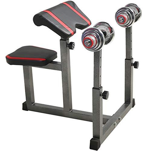 Home Warehouse Fitness-Stuhl, Indoor-Multifunktions-Hantelbank Barbellhocker Muskelgruppe Trainingsbank Umfangreiche Trainingsgeräte,Black