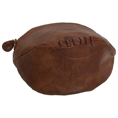 Portland Vintage Herren Rugby Ball Form Kulturbeutel (Einheitsgröße) (Braun)